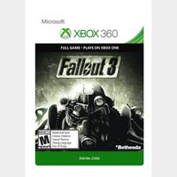 Code to Download the game Fallout 3 for Xbox One or Xbox 360 - INSTANT DELIVERY