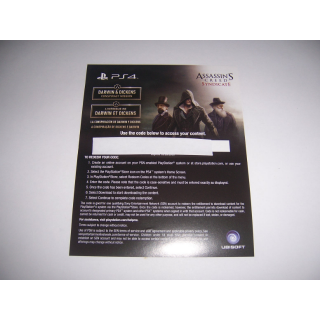 """Assassin's Creed Syndicate Add on DLC """"Darwin & Dickens Conspiracy Mission"""" for PlayStation 4 PS4 - INSTANT DELIVERY"""