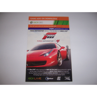 Forza 4 - Bonus Track Pack & Launch Bonus Car Pack - Tested and Working - Instant Delivery