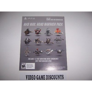 Mad Max Road Warrior Pack Game Add-on for PlayStation 4 PS4 - Instant Delivery
