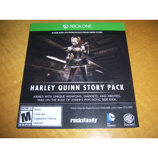Harley Quinn Story Pack For Batman Arkham Knight Download Code (DLC) for XBOX ONE - INSTANT DELIVERY