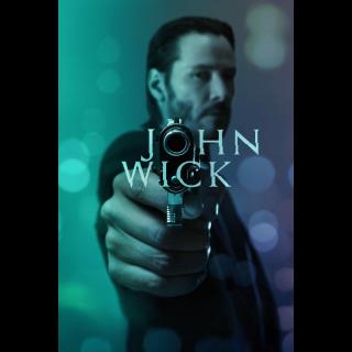 John Wick - INSTANT DELIVERY - ITunes - Google Play - Fandango - Vudu