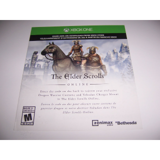 Dragon Warrior Pack Add on for: The Elder Scrolls Online Xbox One XB1 - Instant Delivery
