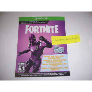 Fortnite XBOX One Dark Vertex DLC Skin Costume Outfit and 500 V-Bucks - INSTANT DELIVERY