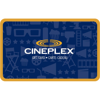 $140.00 Cineplex CANADA E-Gift Cards Bundle (instant delivery)