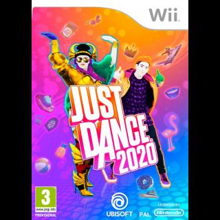 Just Dances 2020 WII U - US REGION