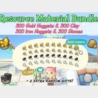 Resource   Gold Clay Iron Stone