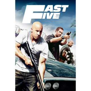 Fast Five Extended Edition HDX Movies Anywhere (NOT Instawatch)