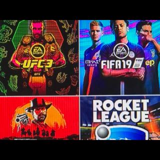 I will Train u at ufc 3 rocket league or fifa 19