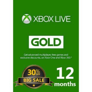XBox Live Gold 12 Months Membership  ::  EASTER PACK