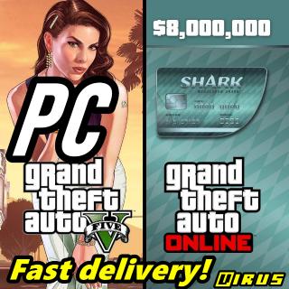 Grand Theft Auto Online: Megalodon Shark Cash Card Rockstar 8 000 000 Key GLOBAL PC