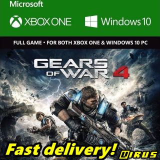 Gears Of War 4 XBOX ONE / WINDOWS 10 - CD KEY GLOBAL