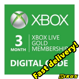 Xbox Live GOLD Subscription Card 3 Months GLOBAL XBOX ONE