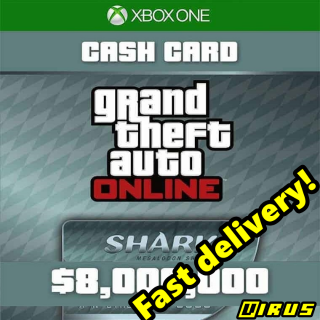 Grand Theft Auto Online: Megalodon Shark Cash Card XBOX ONE/XBOX LIVE GLOBAL 8 000 000 USD