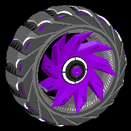 Helicoprion | Purple