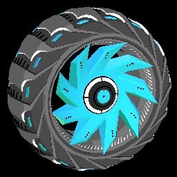 Helicoprion | Sky Blue