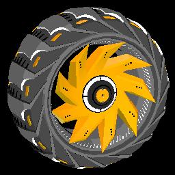 Helicoprion | Orange