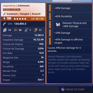 Siegebreaker | 130 Godroll (Physical) 4x