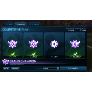 I will carry you to any rank + Grand Champion (ANY PLATFORM)