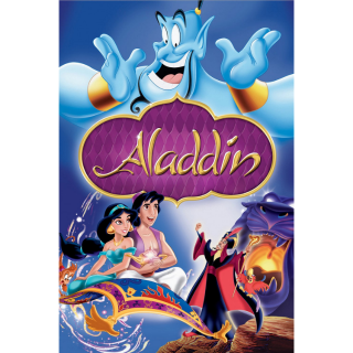 Aladdin (1992) HD Movies Anywhere only! NO Google Play or Disney Movie Rewards ~> INSTANT DELIVERY <~ *** Vaulted ***