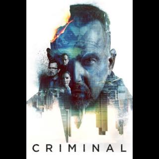 Criminal (2016) HD Vudu