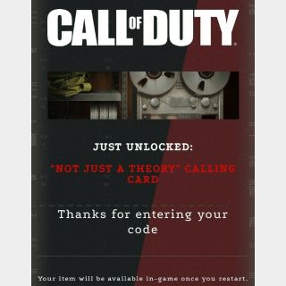 Call of Duty: Black Ops Cold War - Calling Card