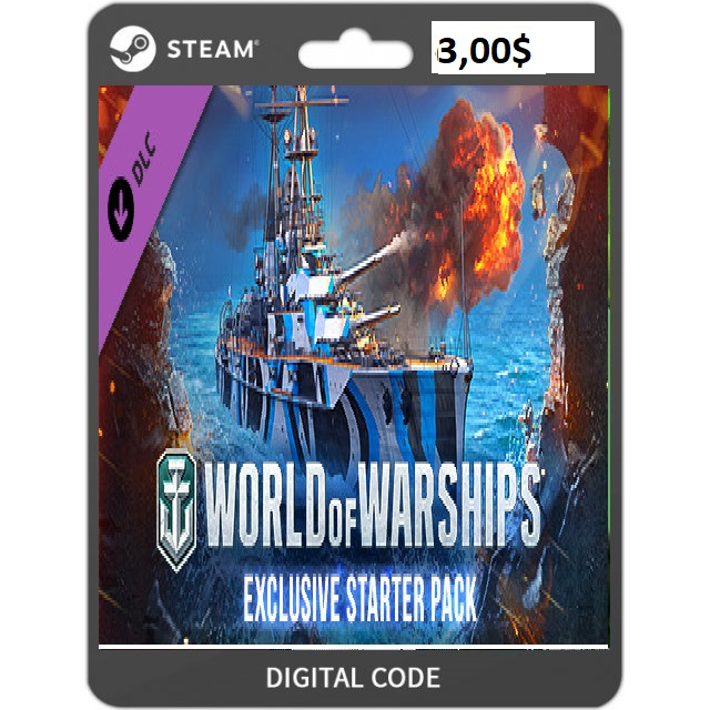 World of Warships - Exclusive Starter Pack [steam key] DLC