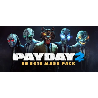 🔑🌐 PAYDAY 2 [4 steam keys]DLC- Mask bundle