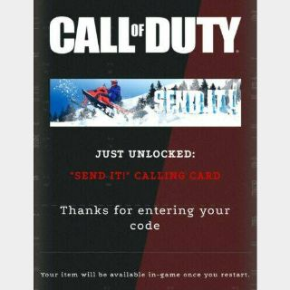 Call of Duty: Black Ops Cold War/Warzone - Send It! Calling Card