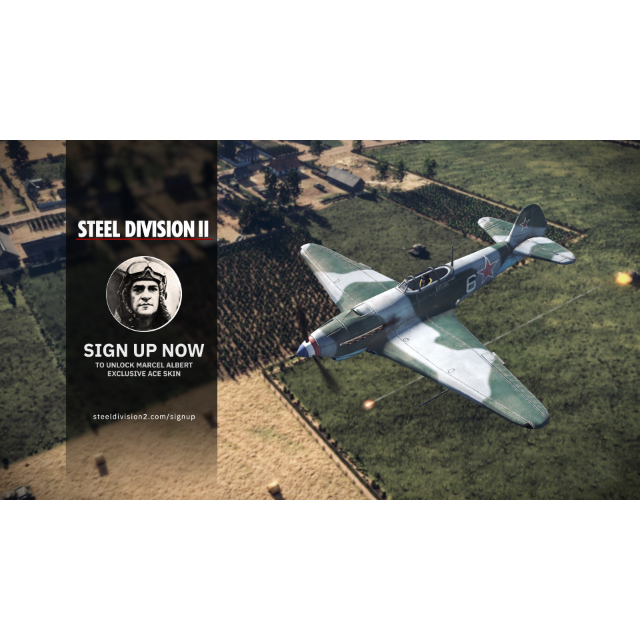 Steel Division 2 [ steam key] DLC-Marcel Albert Exclusive Signup Ace
