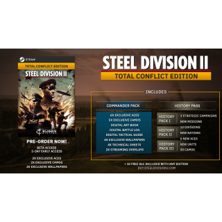 🔑 Steel Division 2 - Total Conflict Edition  [ steam key] Europe