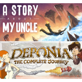 🔑🅱🆄🅽🅳🅻🅴 Deponia: The Complete Journey + A Story About My Uncle [2 steam keys]