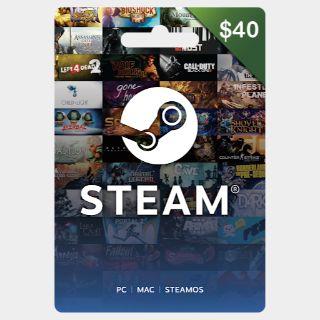 $40.00 Steam