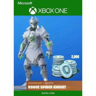 Fortnite Battle Royale Rogue Spider Knight Bundle 2000 Vbucks