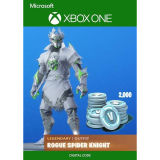 Fortnite: Legendary Rogue Spider Knight Outfit + 2000 V-Bucks Bundle Xbox One Instant Auto Delivery