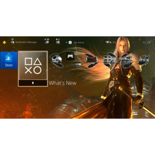 Final Fantasy VII Remake PS4 Sephiroth Dynamic Theme - Amazon Pre-Order Bonus instant auto delivery