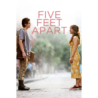 Five Feet Apart - Vudu, iTunes, FandangoNow and Google Play Instant Delivery