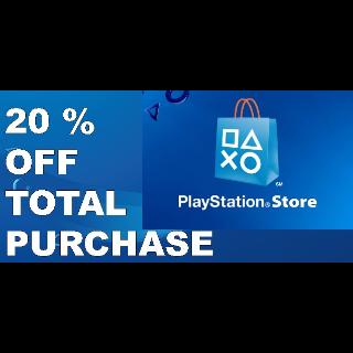 20% Playstation store PSN discount code USA