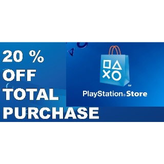 20% Playstation store PSN discount code USA