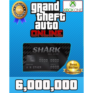 GTA V Money XBOX ONE GTA Online $6.000.000 (READ DESCRIPTION)
