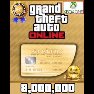 GTA V Money XBOX ONE GTA Online $8.000.000 (READ DESCRIPTION)