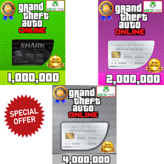 I will GTA V Money Xbox One (choose your package 1,2 or 4 millions) GTA 5 ONLINE