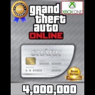GTA V Money XBOX ONE GTA Online $4.000.000 (READ DESCRIPTION)