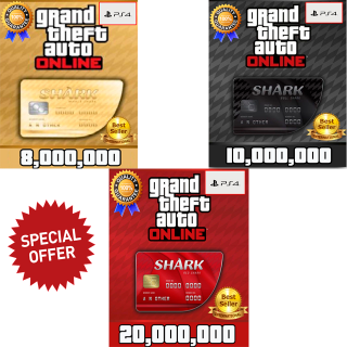 I will GTA V Money PS4 (choose your package 8,10 or 20 millions) GTA 5 ONLINE