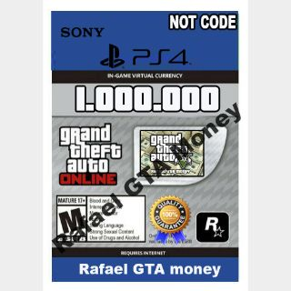 Gta 5 Shark Card Money PS4 Grand Theft Auto V Online $ 1,000,000 NOT CODE Read description cash