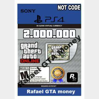 Gta 5 Shark Card Money PS4 Grand Theft Auto V Online $ 2,000,000 NOT CODE Read description cash