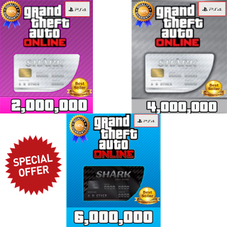 I will GTA V Money PS4 (choose your package 2,4 or 6 millions) GTA 5 ONLINE