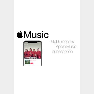 Apple Music 6 Month's subscription code (USA)
