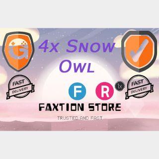 Pet   4x Snow Owl