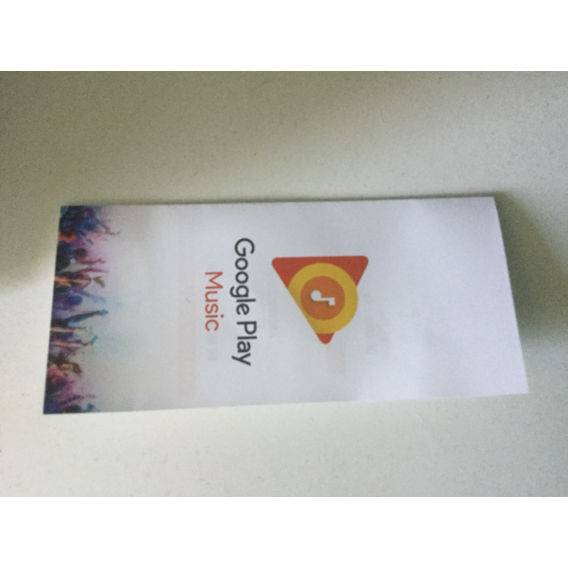 Google Play music 3 months card (i have 2 i bought two speakers)